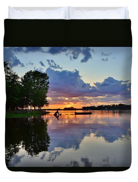 Lake Murray Sc Reflections Duvet Cover