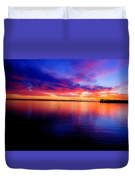 Lake Murray Sunset 21 Duvet Cover