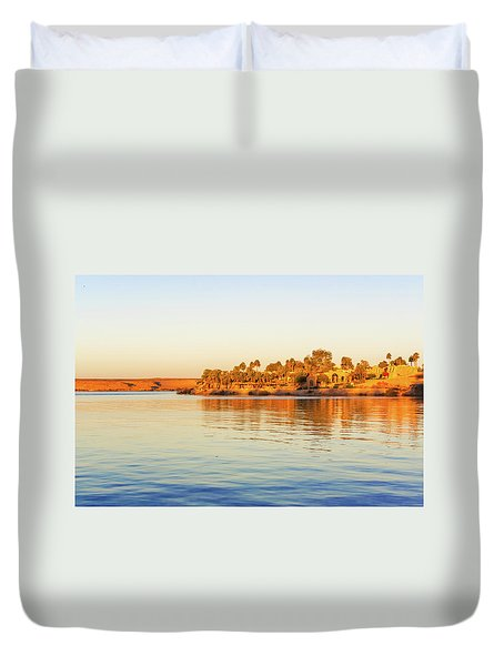 Lake Nasser In Abu Simbel Duvet Cover