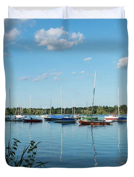 Lake Nokomis Minneapolis City Of Lakes Duvet Cover