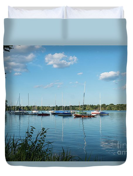Lake Nokomis Minneapolis City Of Lakes Duvet Cover