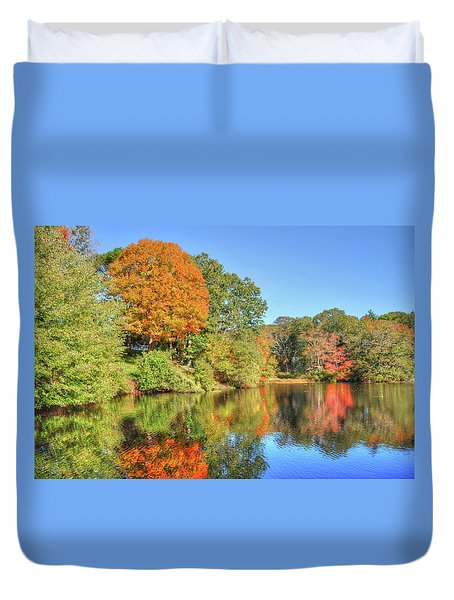 Lake Noquochoke, Dartmouth, Ma Duvet Cover