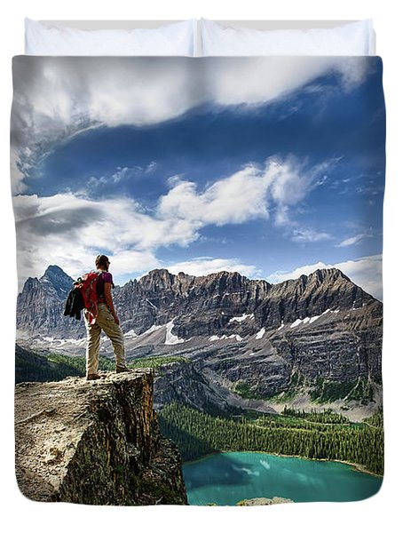 Lake O'hara Adventure Duvet Cover