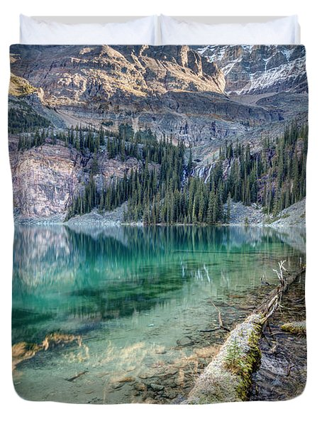 Lake O'hara Scenic Shoreline Duvet Cover
