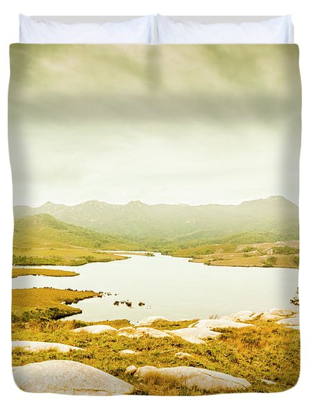 Lake On A Mountain Duvet Cover