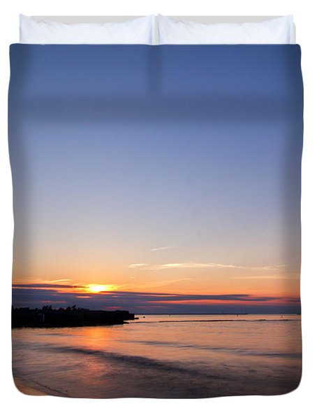 Lake Ontario Beach Sunset Duvet Cover