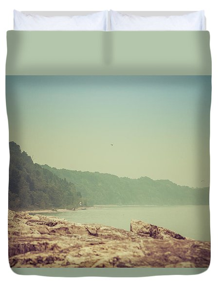 Duvet Cover featuring the photograph Lake Park Port Washington by Joel Witmeyer