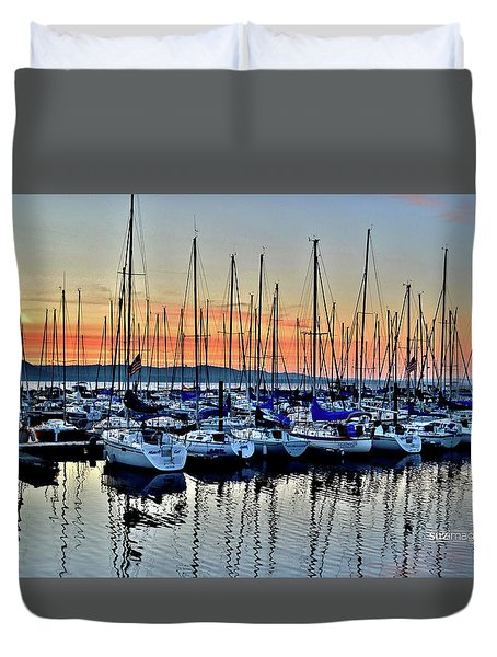 Lake Pepin Sunrise Duvet Cover