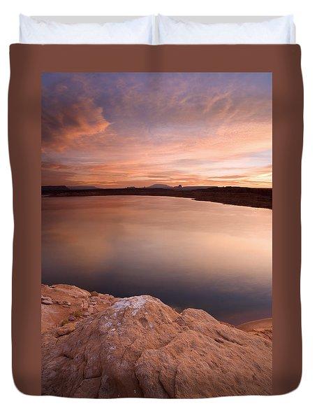 Lake Powell Dawn Duvet Cover by Mike  Dawson