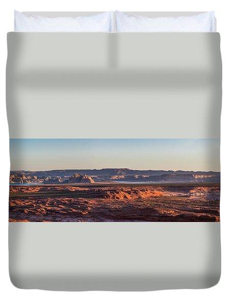 Lake Powell Sunrise Panorma Duvet Cover