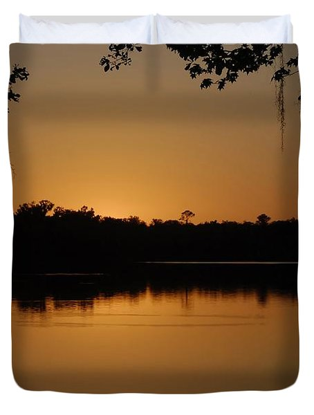 Lake Reflections Duvet Cover by David Lee Thompson