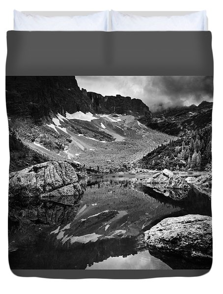 Lake Reflections Duvet Cover by Yuri Santin
