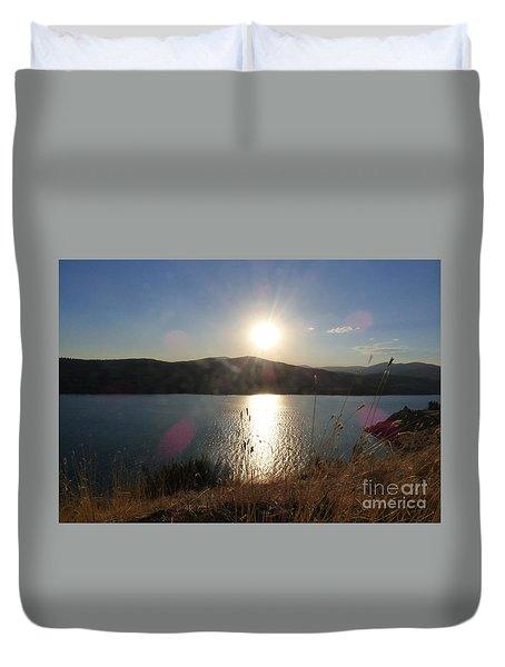 Lake Roosevelt Sun Duvet Cover