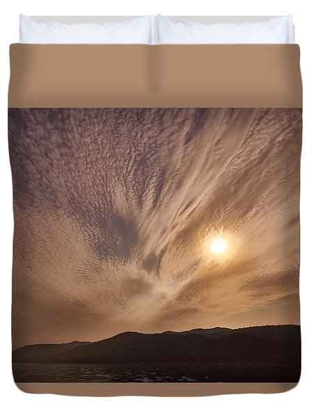 Lake Roosevelt Washington Duvet Cover