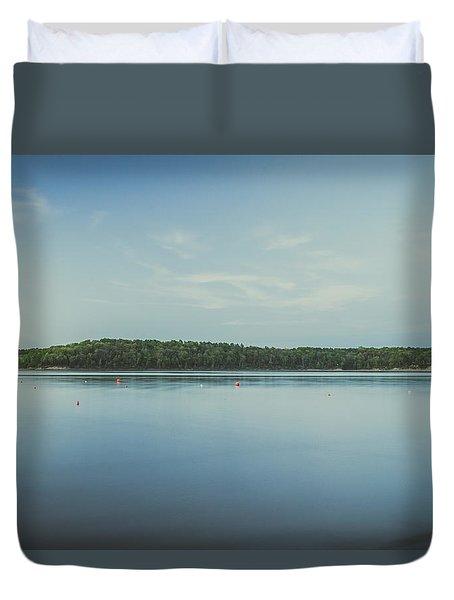 Lake Scene Duvet Cover by Scott Meyer