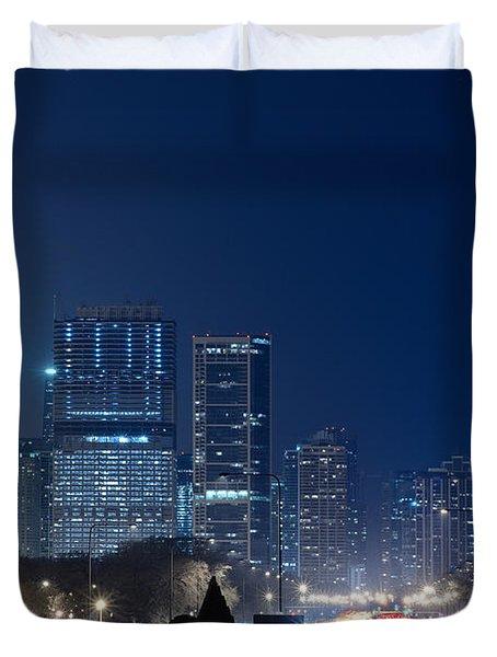Lake Shore Drive Chicago Duvet Cover by Steve Gadomski