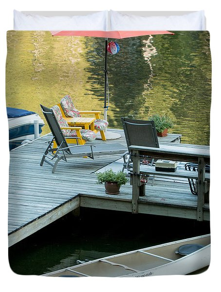 Lake-side Dock Duvet Cover