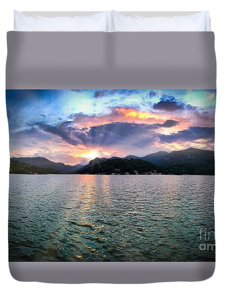 Lake Solstice Duvet Cover