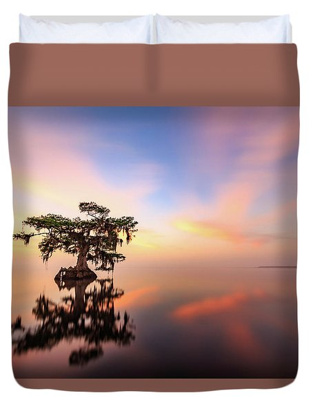 Lake Sunrise Duvet Cover