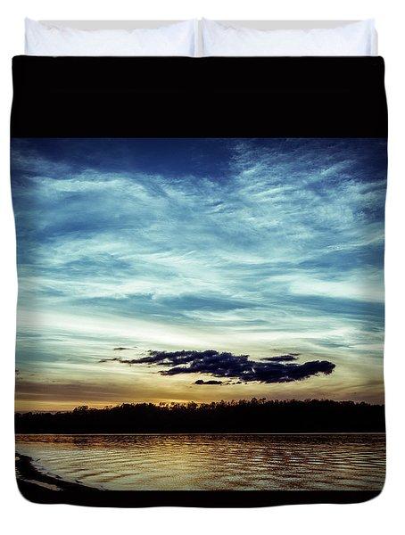 Lake Sunset Duvet Cover by Scott Meyer