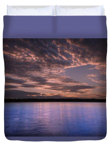 Lake Sunset Xv Duvet Cover