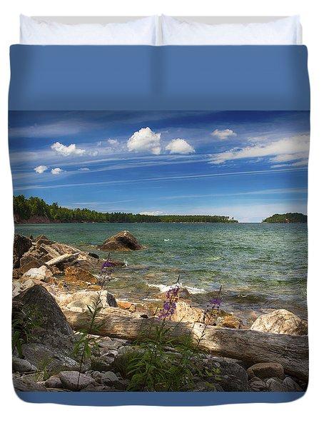 Lake Superior Duvet Cover by Dan Hefle