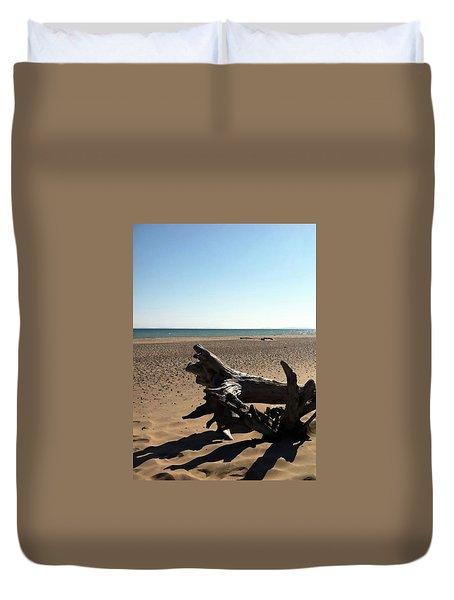 Lake Superior Driftwood Duvet Cover