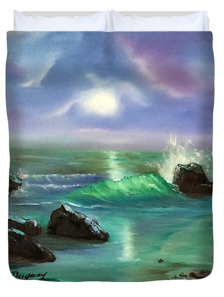 Lake Superior Evening Duvet Cover