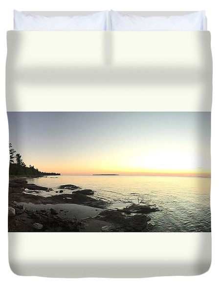 Lake Superior Evening Sky Duvet Cover