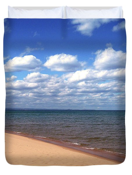 Lake Superior In Summer Duvet Cover by Phil Perkins