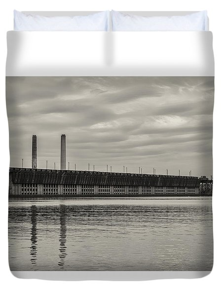 Lake Superior Oar Dock Duvet Cover