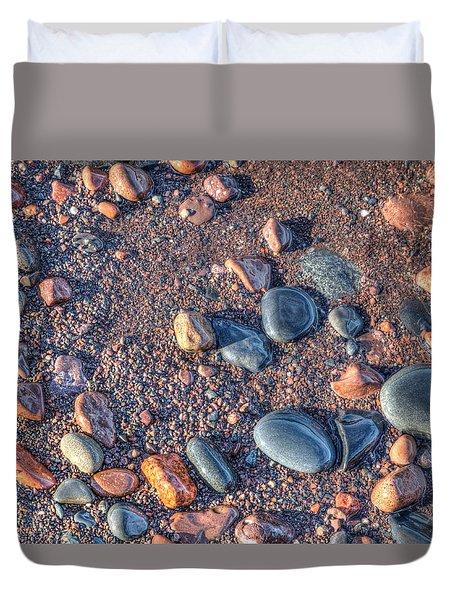 Lake Superior Pebbles Duvet Cover