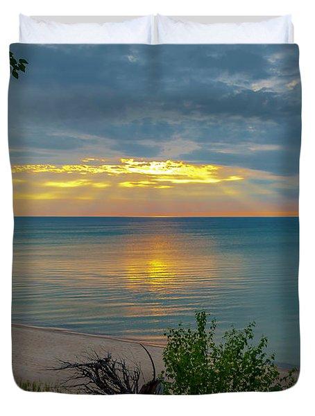 Lake Superior Sunset Duvet Cover
