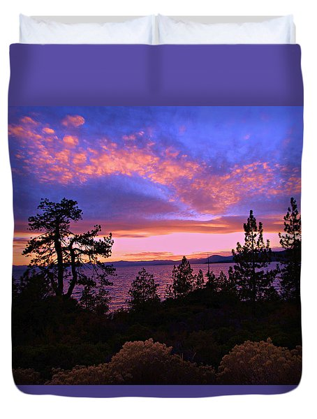 Lake Tahoe Crescendo Duvet Cover