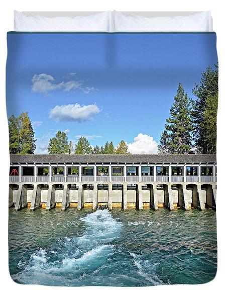 Lake Tahoe Dam Duvet Cover