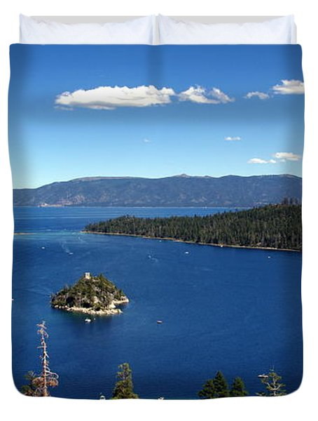Lake Tahoe Emerald Bay Duvet Cover