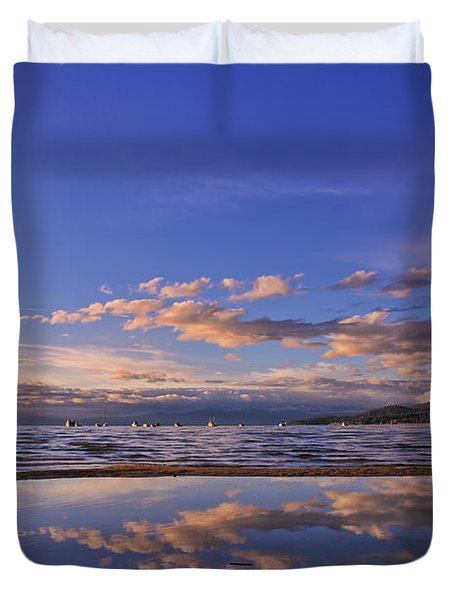 Lake Tahoe Evening Duvet Cover