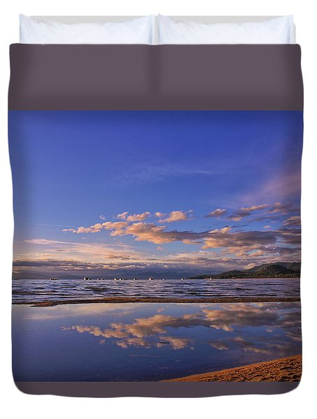 Lake Tahoe Evening Duvet Cover