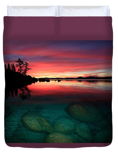 Lake Tahoe Jewels Duvet Cover