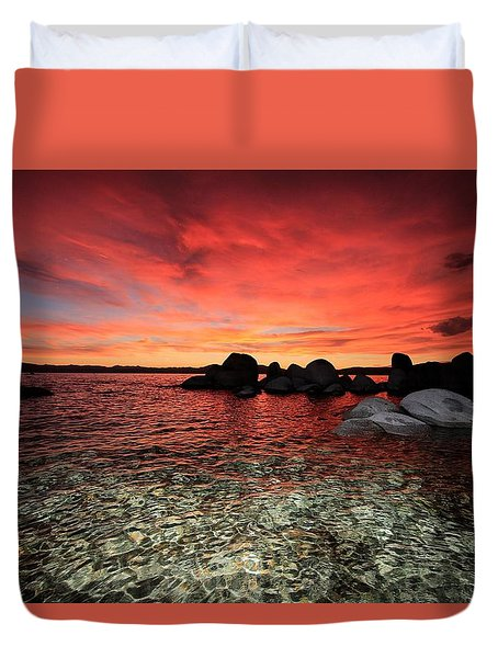 Lake Tahoe Liquid Dreams Duvet Cover