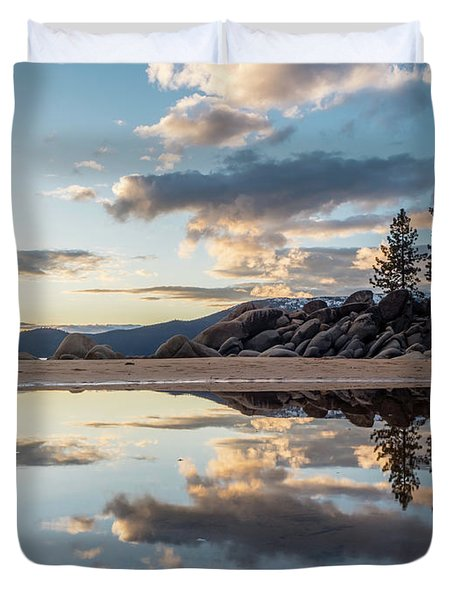 Lake Tahoe Mirror Duvet Cover