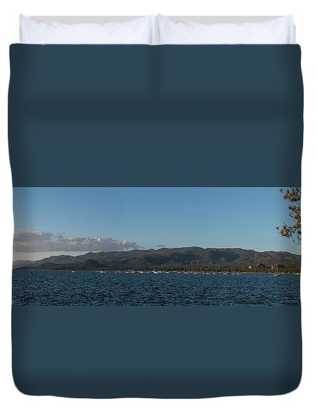 Lake Tahoe Panorama Duvet Cover