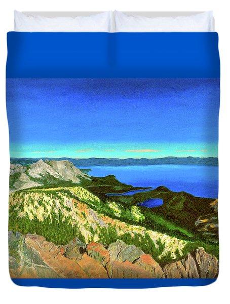 Lake Tahoe Panorama Duvet Cover