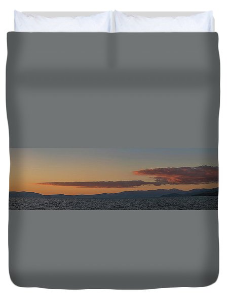 Lake Tahoe South Shore Panorama - 1 Duvet Cover