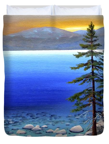 Lake Tahoe Sunrise Duvet Cover