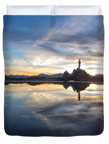 Lake Tahoe Sunset Duvet Cover