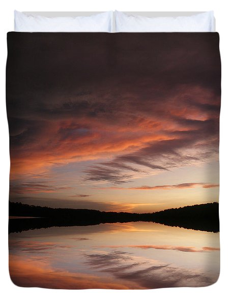 Lake Thunderbird Sunset Duvet Cover