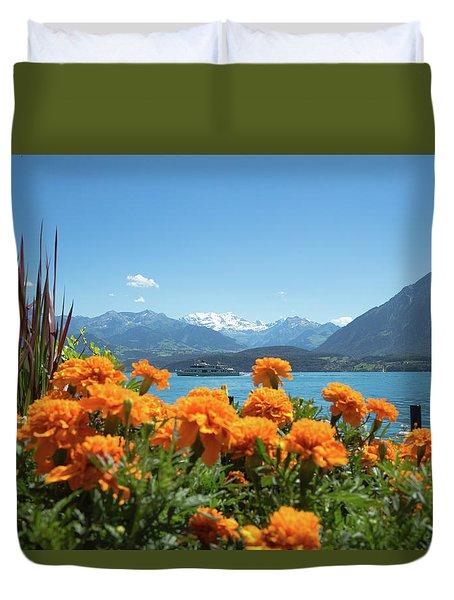Lake Thunersee Duvet Cover