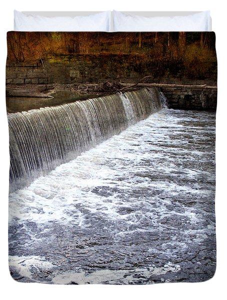Lake To Lake Waterfall Duvet Cover by Joan  Minchak
