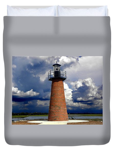 Lake Toho Lighthouse 002  Duvet Cover